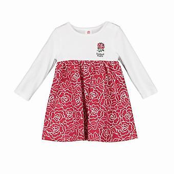 England RFU Rugby Baby/Toddler Girls Rose Print Dress | 2019/20