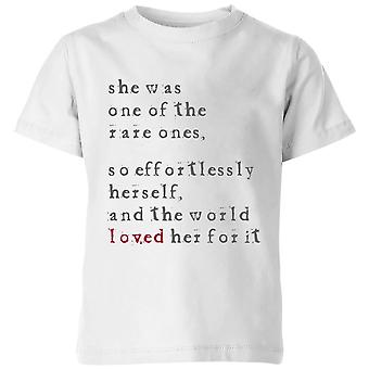 One Of The Rare Ones Kids' T-Shirt - White