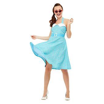 Naisten 1950 pin up fancy mekko puku