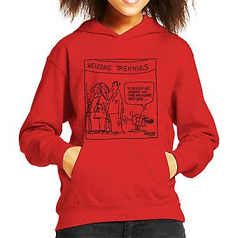 Grimmy Welcome Trekkies Kid's Hooded Sweatshirt