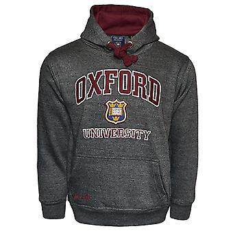 Ou129 licensed unisex oxford university™ hooded sweatshirt charcoal