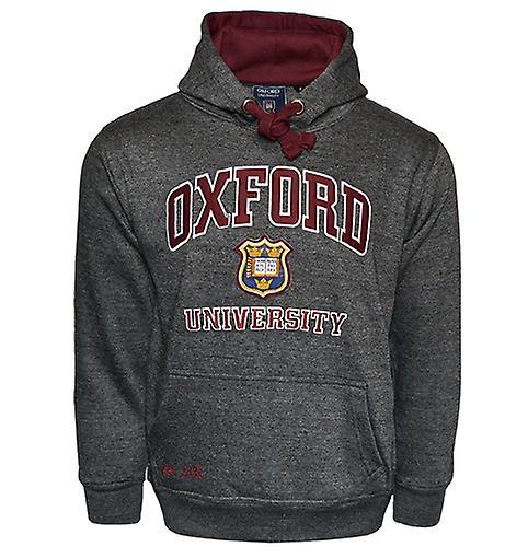 Ou129 licensed unisex oxford university™ hooded sweatshirt charcoal
