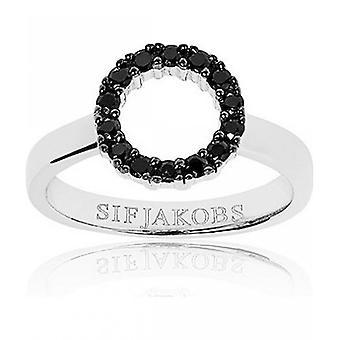 Sif Jakobs Ring Biella Piccolo SJ-R337-BK - Size 60