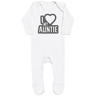 I Love My Tante Black Outline Baby Romper