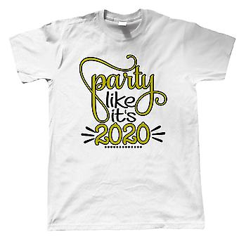 Party Like Its 2020 Mens T-Shirt | Happy New Years Eve Celebrate Party Resolution | Ball Drop Auld Lang Syne Time Square Midnight | New Year Gift Him Dad