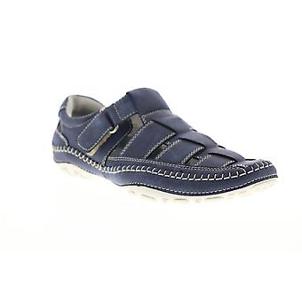 GBX Sentaur  Mens Blue Suede Adjustable Strap Sport Sandals Shoes