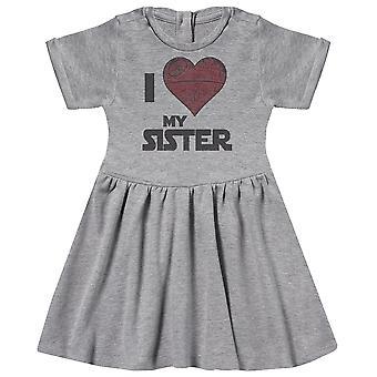 I Love My Sister Star Heart - Baby Dress