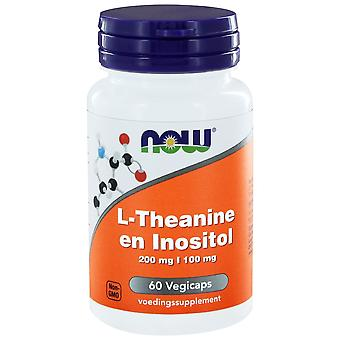 L-Theanin 200 mg en Inositol 100 mg (60 Vegicaps) - NOW Foods