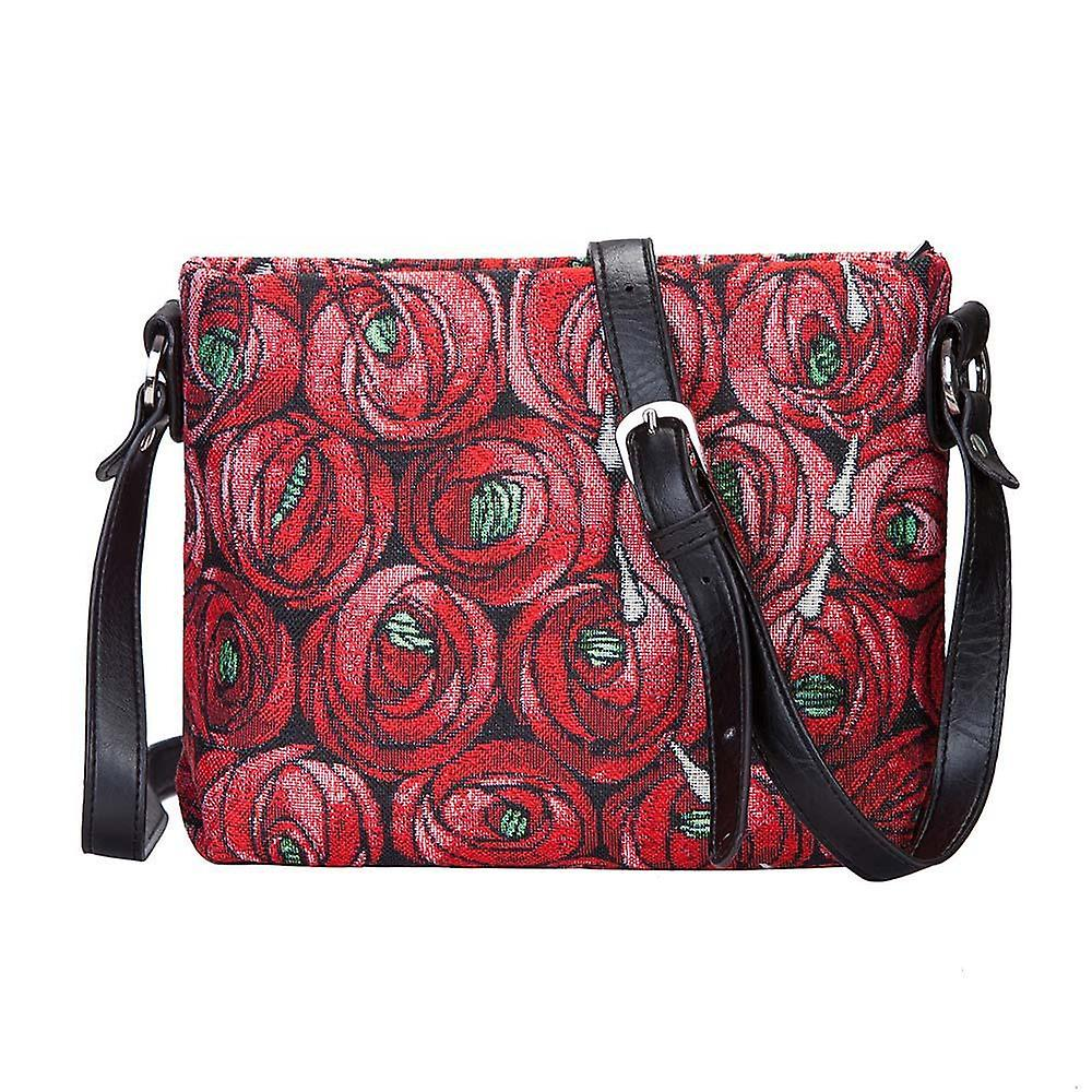 Mackintosh - rose and teardrop cross body bag by signare tapestry / xb02-rmtd