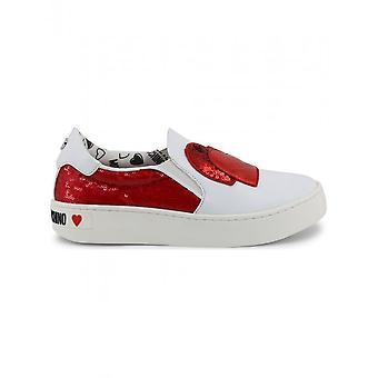Love Moschino-sko-sneakers-JA15153G17IO_150A-kvinder-hvid, rød-38