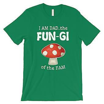 真菌のお父さんキノコメンズグリーン正直誇り笑いシャツお父さんのために