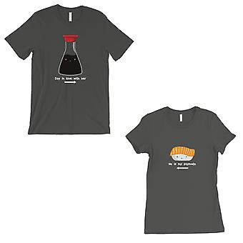 Sushi & Soy Sauce Matching Couple Gift Shirts Cool Grey T-Shirt