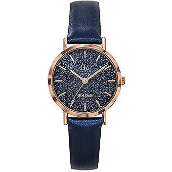 Watch Go Girl Only 699904 - Leather Bracelet Blue Box Steel Dor Rose Dial Clat Cristallin Women