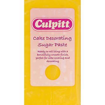 Culpitt cake versieren suiker plakken geel 8 X 250g