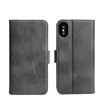 Pour iPhone XS,X Wallet Case,Fierre Shann Elegant Detachable Leather Cover,Grey