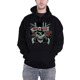 Guns N Roses crâne en détresse Mens officiel nouveau noir Pullover Hoodie