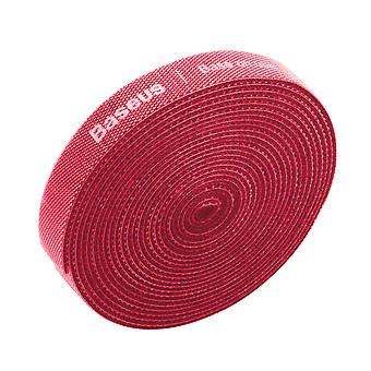 Velcro Strap 3 meters Red