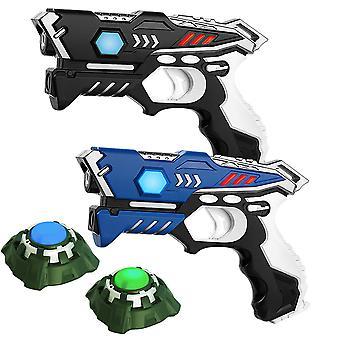 KidsFun Lasergame set: 2 laser pistols + 2 lasergame targets