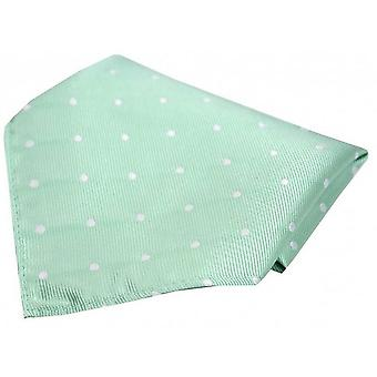 David Van Hagen Polka Dot Silk Pocket Square - Mint/White