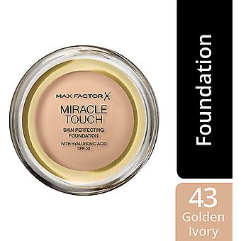 2 x Max Factor Miracle Touch Skin Perfecting Foundation SPF30 - 43 Golden Ivory