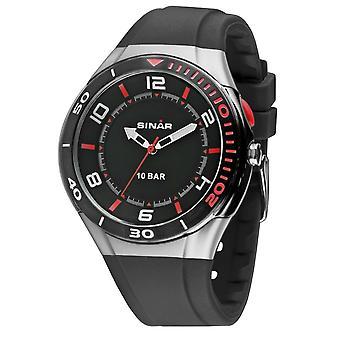 SINAR Youth Watch Wristwatch Analog Quartz Unisex Silicone XB-31-1 Noir