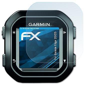 atFoliX Glass Protector compatible with Garmin Edge 20/25 Glass Protective Film 9H Hybrid-Glass