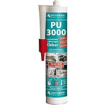 HOTREGA® PU-3000 rakenne- ja kiinnitysliima, 310 ml sylinteriampulli