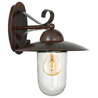 Eglo Milton - 1 Lanterna de Parede Ao Ar Livre Leve Antiga Marrom IP44 - EG83589
