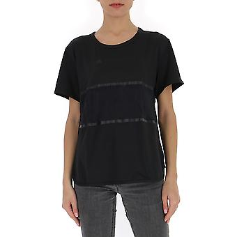 Adidas by Stella Mccartney Fs7577 Damen's schwarze Baumwolle T-shirt