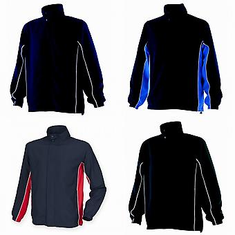 Finden & Hales Mens Contrast Full Zip Sport Track Top