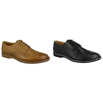 Thomas Blunt Mens Perforated Panel Lace Up Brogue Shoes