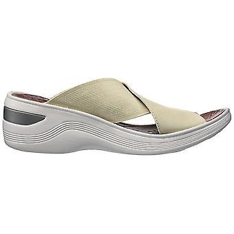 BZees Womens Desire Fabric Open Toe Casual Mule Sandals
