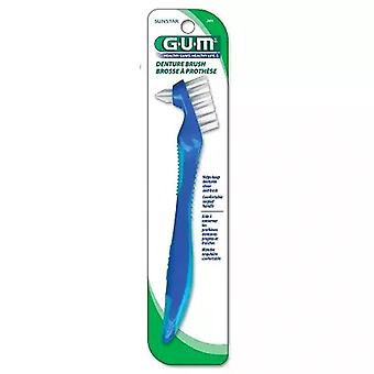 G-u-m denture brush, toothbrush, 201ryb, 1 ea
