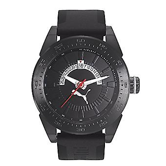 Cougar Time Classic Date wrist watch, analog, Silicon band, black