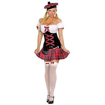 Vrouwen Sexy Schotse Lady Kostuum