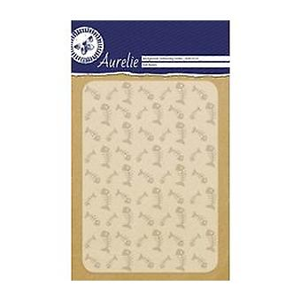 Aurelie Fish Bones Background Embossing Folder