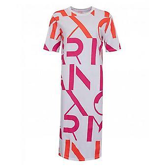Armani Exchange Her Şeyden Logo Jersey Midi Elbise