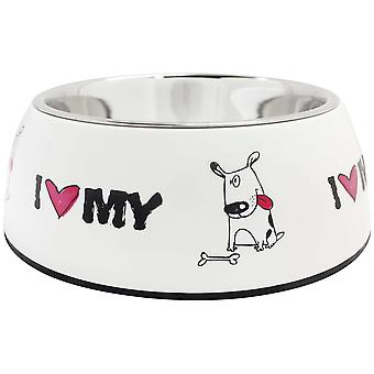 Ica Steel Feeder I-Love (Dogs , Bowls, Feeders & Water Dispensers)