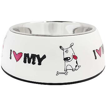 ICA stål Feeder jag-kärlek (hundar, skålar, matare & vattenautomater)