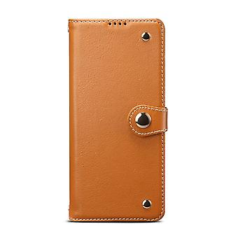 For Samsung Galaxy S20 Ultra Case Genuine Leather Luxury Wallet Case Light Brown