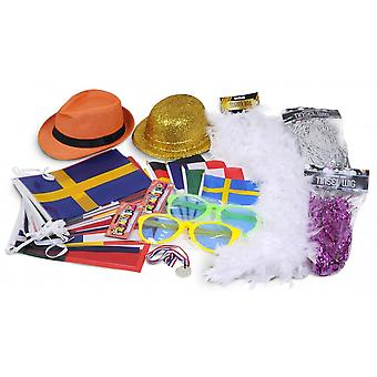 Union Jack Wear Eurovision Party Kit 2020    Euro Party Pack - Bunting, Hats, Wigs Etc Etc
