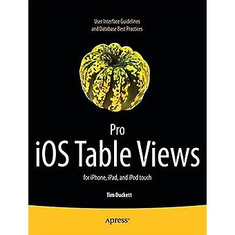 Pro IOS Table Views For iPhone iPad and iPod Touch by Kosmaczewski & Adrian