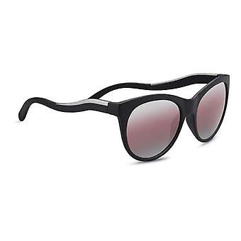 Serengeti Eyewear Sunglasses Valentina Satin Blk/Silver Polar Sedona Bi Mirror