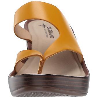 Eastland Womens Laurel Leather Open Toe Casual Slide Sandals