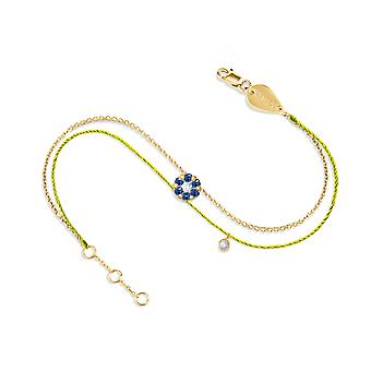 Bracelet Duchess Couture Full Sapphire Stone and 18K Gold - Yellow Gold, NeonYellow