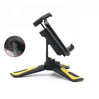 Folding all in one mini desktop tripod bracket holder slr micro single camera phone multifunction tripod (black)