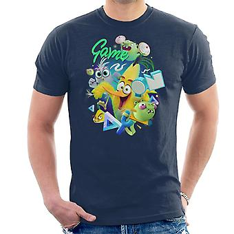 Angry Birds Game On Green Men's T-Shirt
