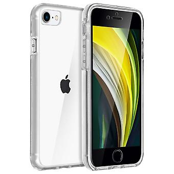 Bi-material soft back Cover with soft contour for iPhone 7 and iPhone 8 - Clear