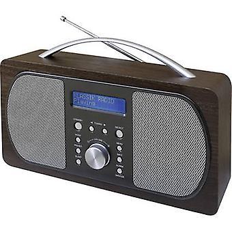 soundmaster DAB600DBR Hordozható rádió DAB+, FM Sötétbarna
