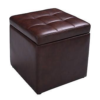 Faux Leather Ottoman Pouffe Storage Toy Box Foot Stools Single Seater Bench Seat
